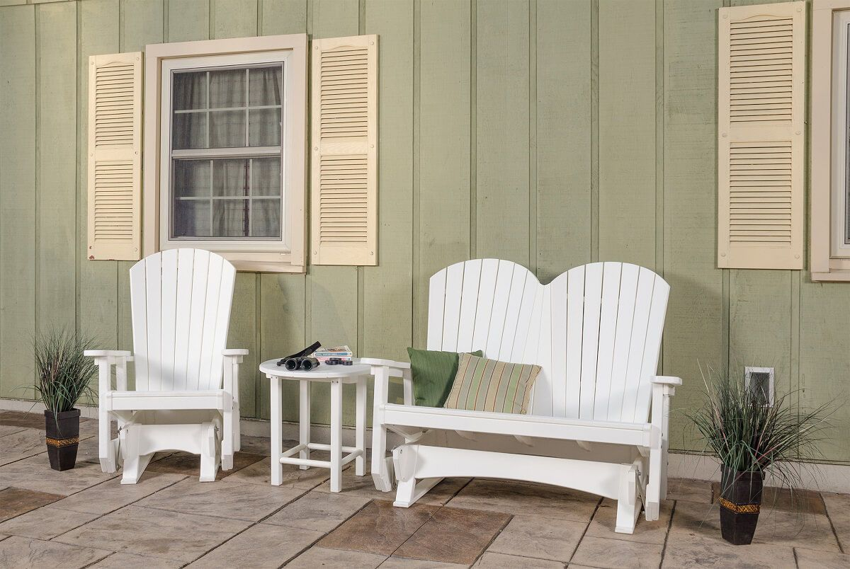 Avalon Outdoor Side Table shown with Avalon Outdoor Glider