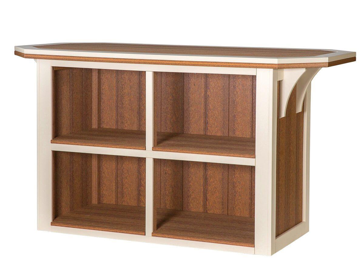 Outdoor Bar Table Shelves