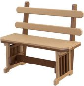 Rio Vista Outdoor Bench with Back