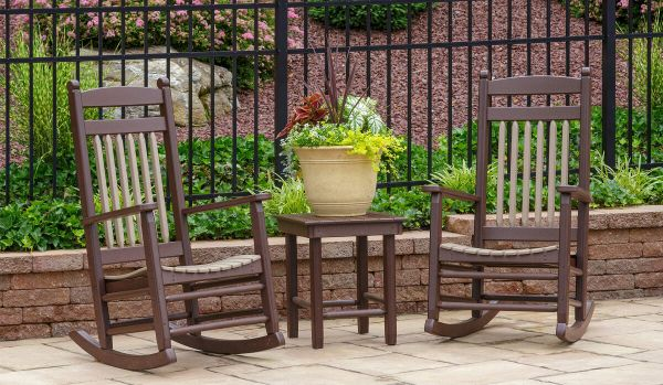 Tecopa Outdoor Rockers with Accent Table