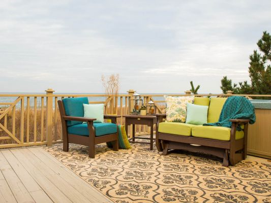Gliding Loveseat and Patio Chair