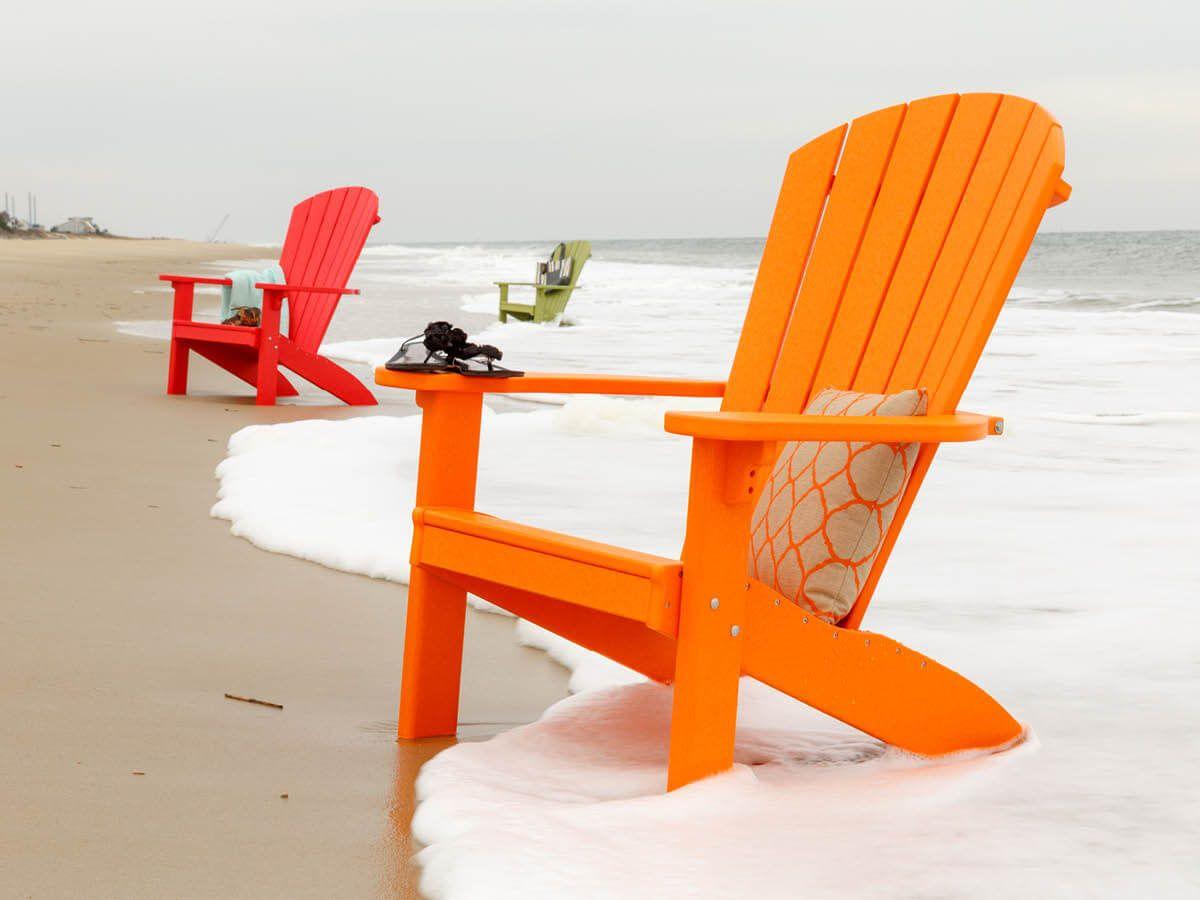 Orange Avalon Poly Adirondack Chair