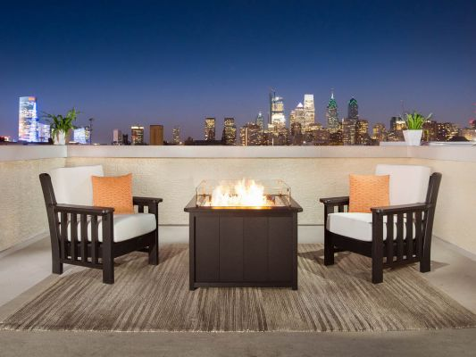 Avalon Fire Pit and Upholstered Chairs