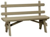 Delray Outdoor Bench with Back