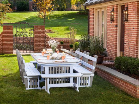 Rio Vista Outdoor Bench and Dining Table