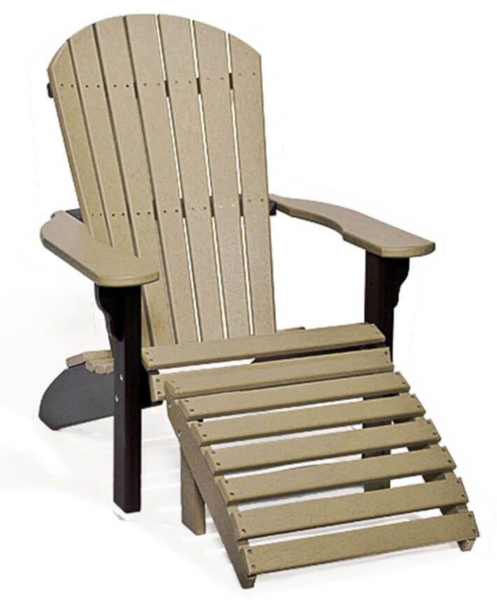 Bahia Adirondack Chair and Ottoman