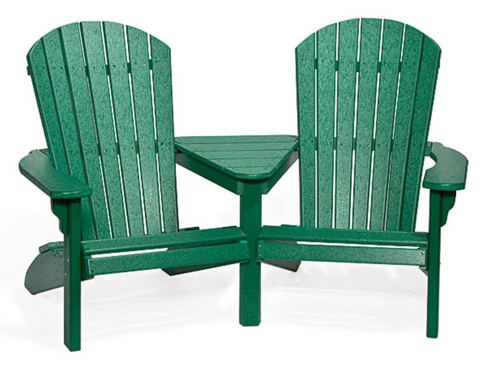 Adirondack chairs with connector table