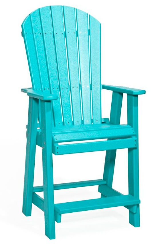 Canova Beach Balcony Chair in teal