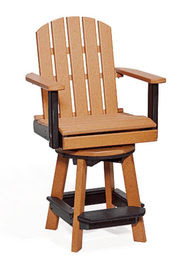 Canova Beach Swivel Pub Chair