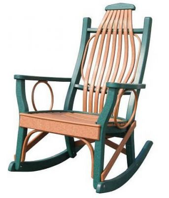 Two-toned Daytona Beach Porch Rocker