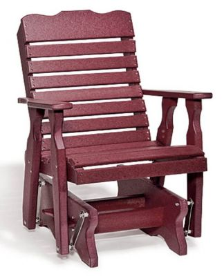 St Pete Outdoor Poly Lumber Glider Countryside Amish Furniture