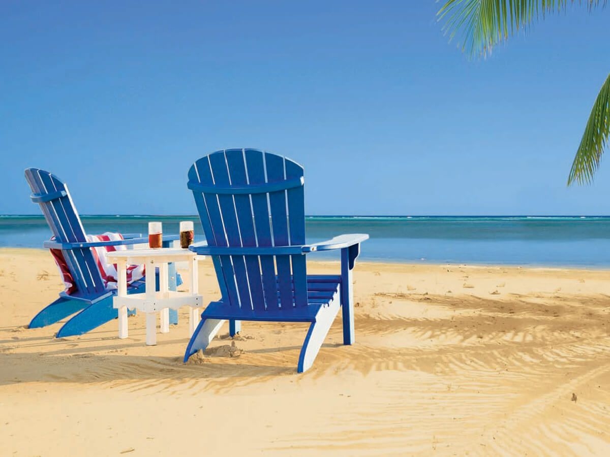 Bahia Adirondack Chairs and End Table