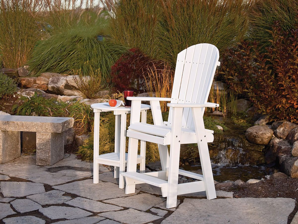 Canova Beach Balcony Chair with Side Table
