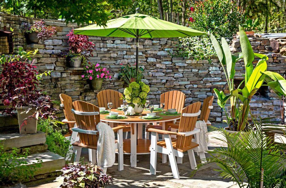 Maya Bay Outdoor Bistro Set Countryside Amish Furniture