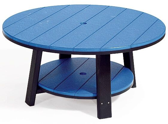 Blue and Black Coffee Table