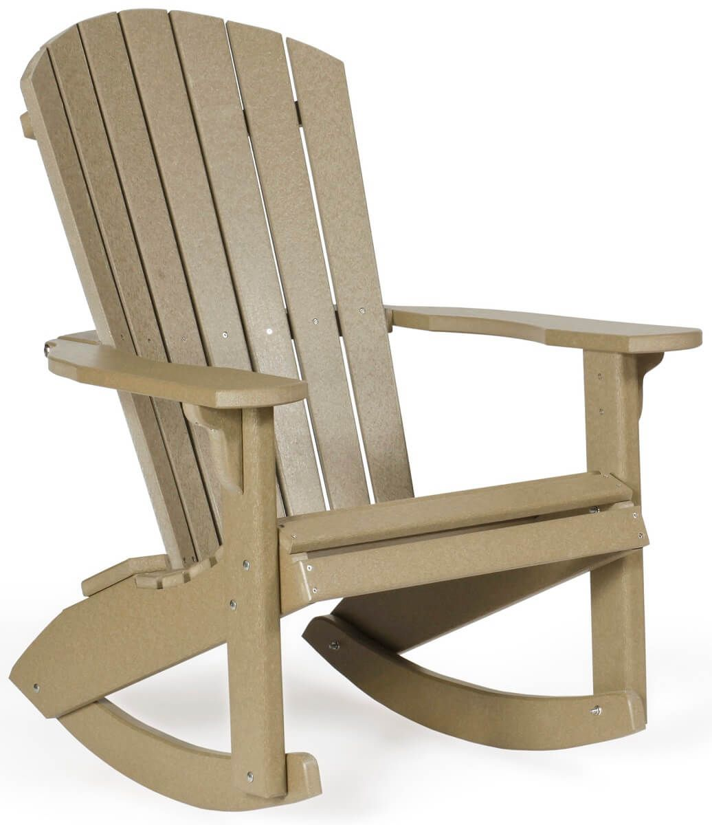 Bahia Adirondack Rocker in Weatherwood