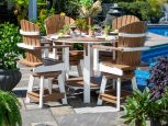 Two Tone Poly Outdoor Dining Set