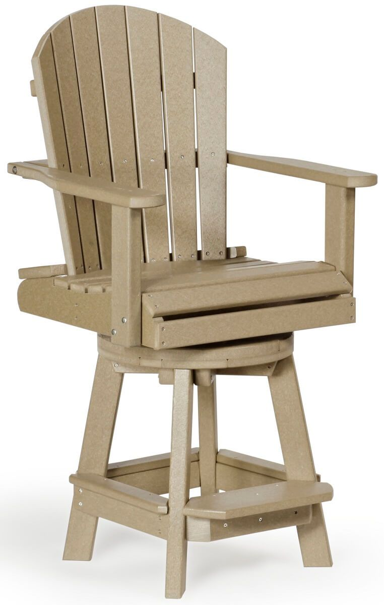 Weatherwood Poly Swivel Pub Chair