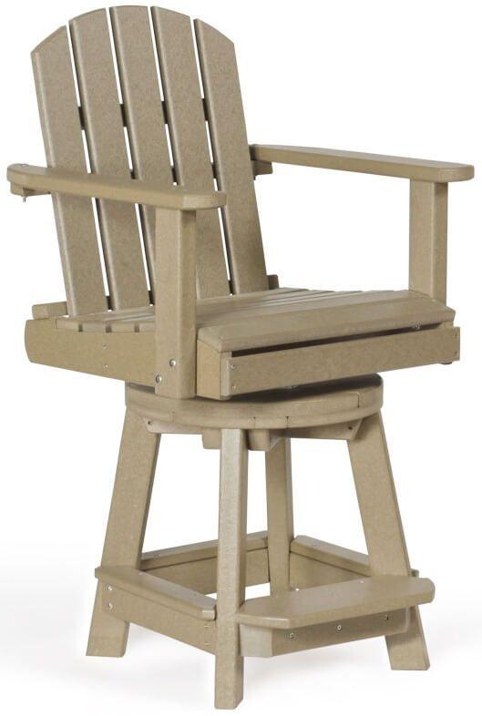 Swivel Poly Lumber Balcony Chair