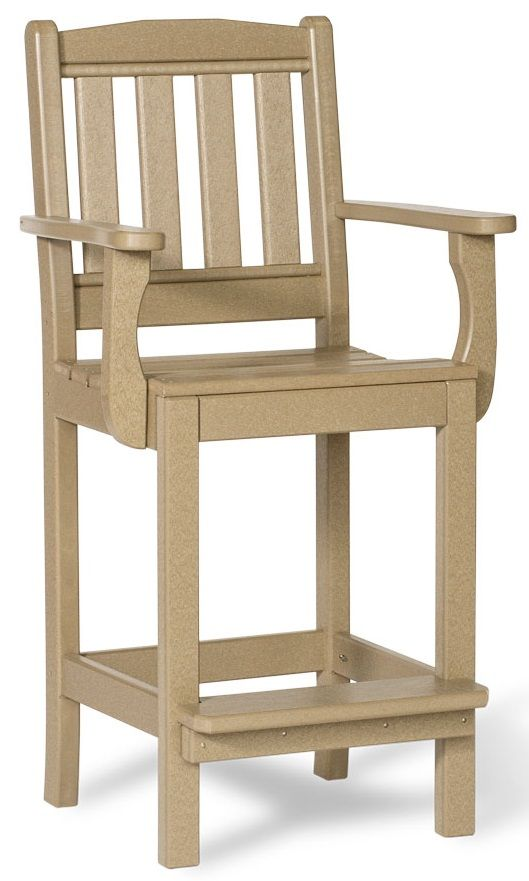 Eco-Friendly Outdoor Bar Chair with Arms