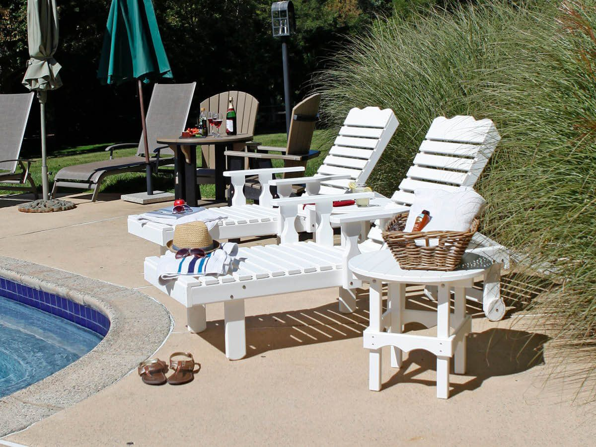 Cocoa Beach Outdoor Loungers in white poly