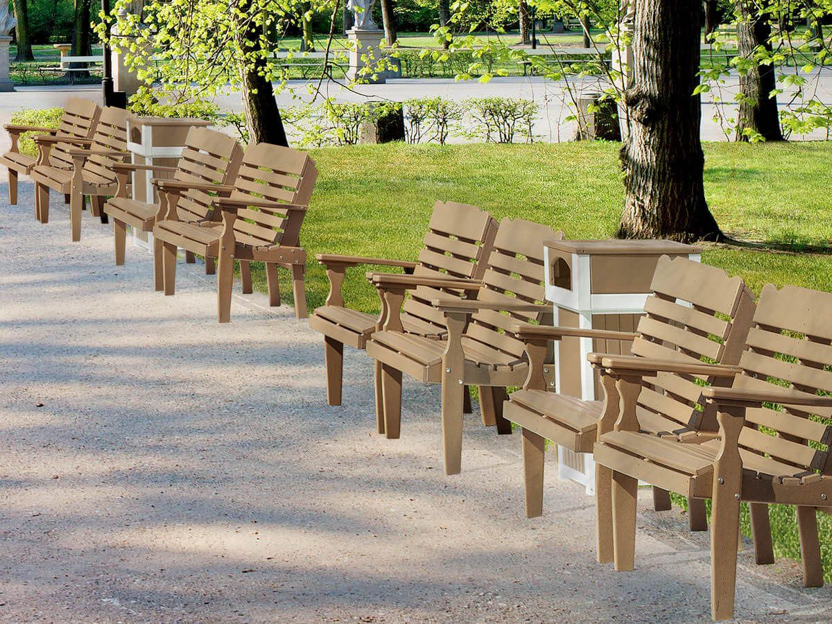 Amish-made Park Bench