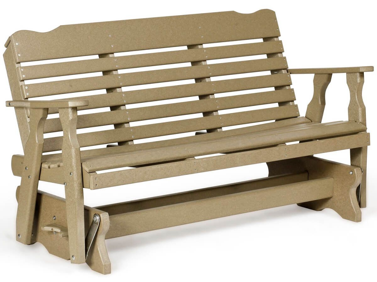 Extended Gliding Park Bench