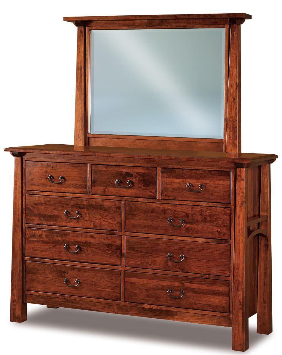 Bellevue 9-Drawer Mirror Dresser