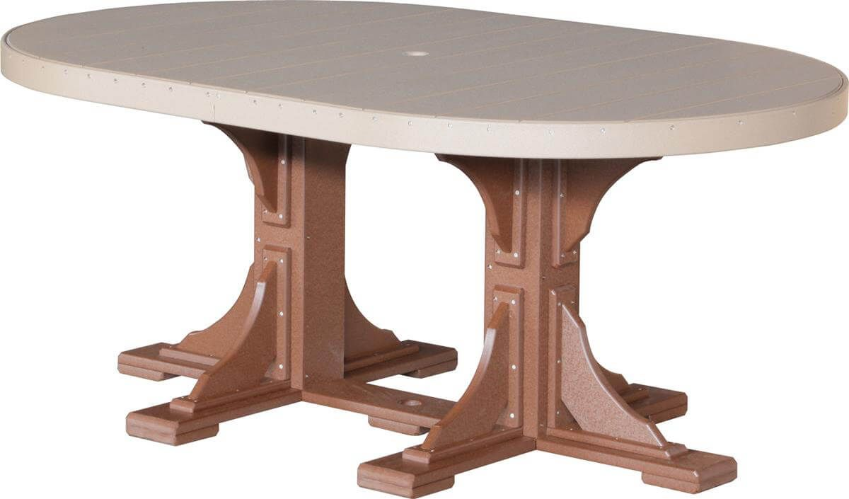 Stockton Outdoor Oval Dining Table Countryside Amish Furniture