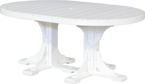 Stockton Outdoor Oval Dining Table in White