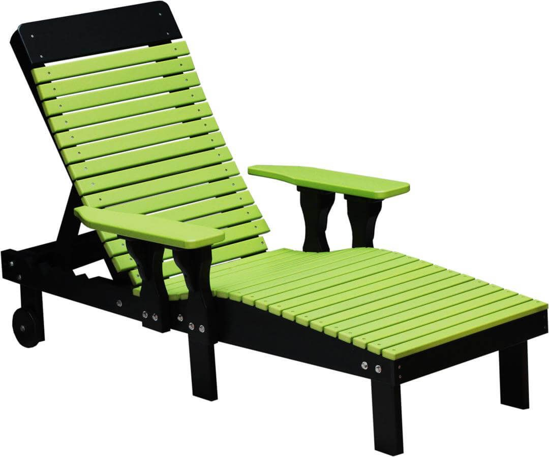 Pigeon Point Poly Lounge Chair pictured in Lime Green on Black