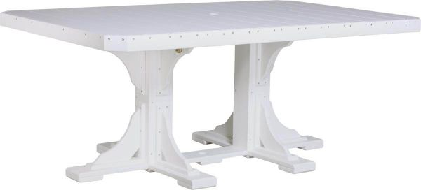 Stockton Outdoor Dining Table in White