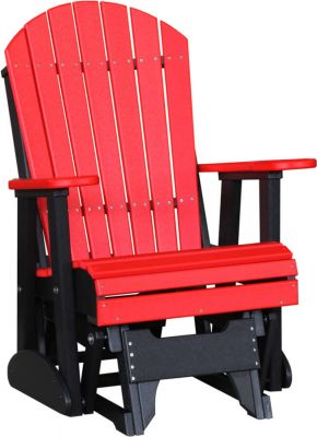 Tahiti Outdoor Glider Chair - Bright Red on Black