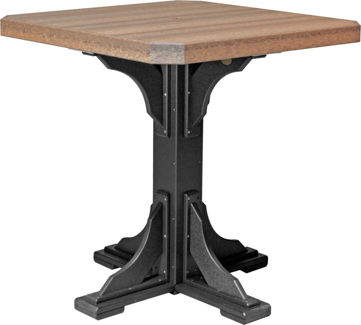 Pictured in Antique Mahogany and Black