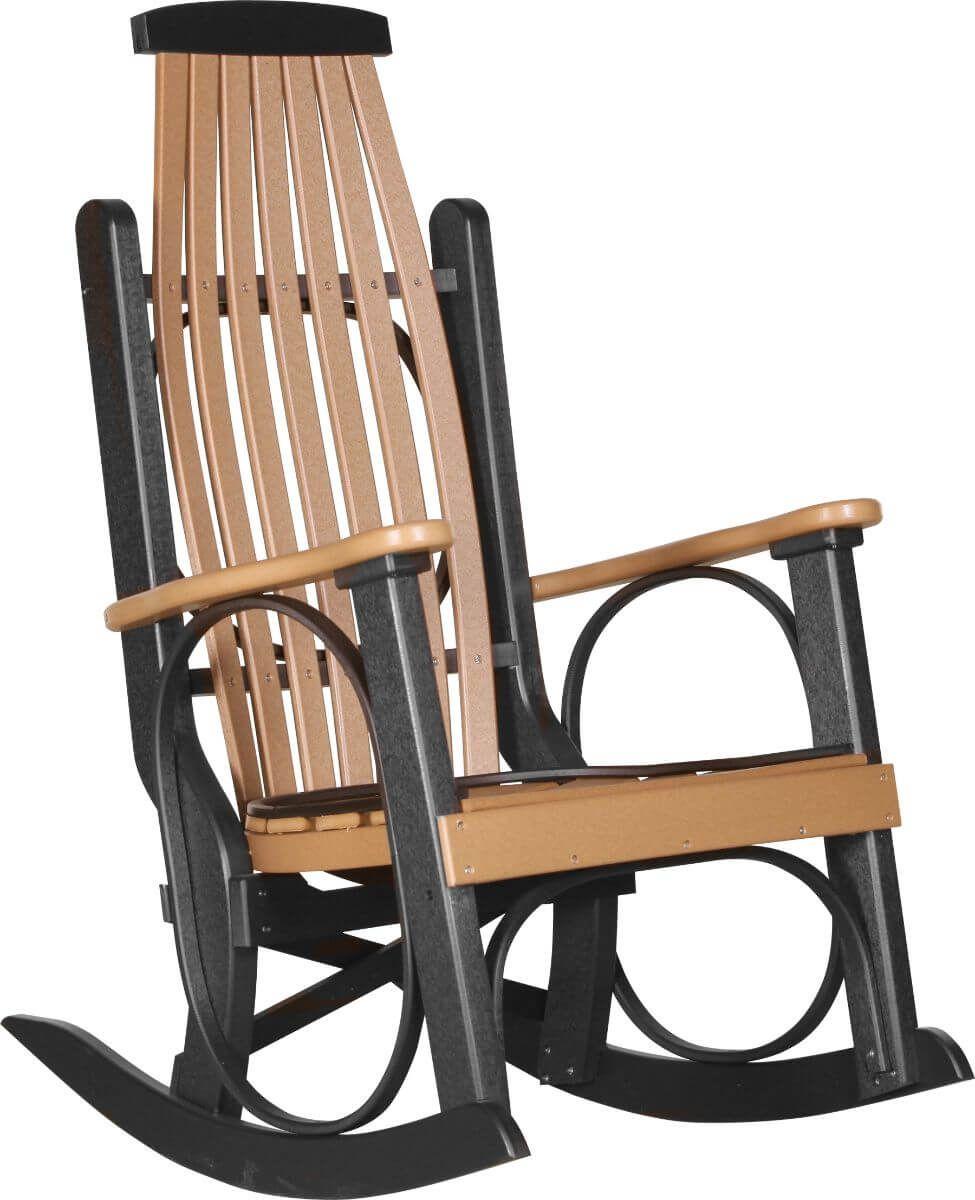 Cedar and Black Apostle Porch Rocker