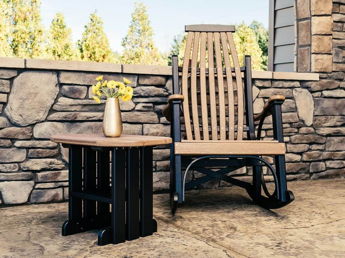 Tahiti Outdoor Side Table and Apostle Rocker