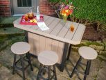 Arashi Outdoor Serving Bar and Stools