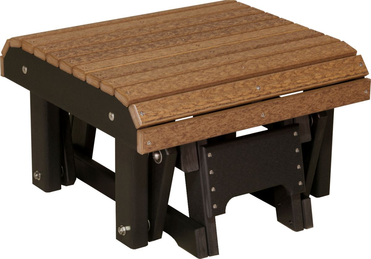 Antique Mahogany and Black Cape Lookout Gliding Footrest