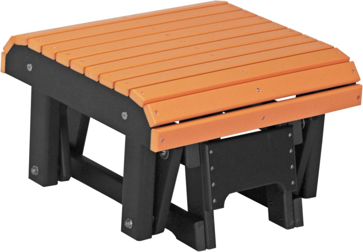 Tangerine and Black Cape Lookout Gliding Footrest