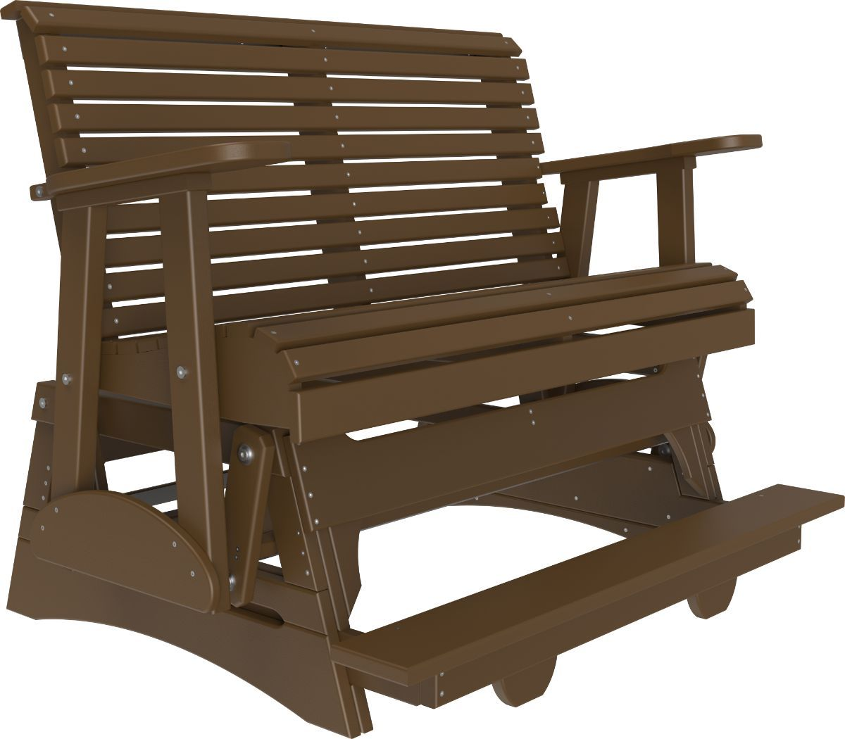 Chestnut Brown Cape Lookout Loveseat Balcony Glider