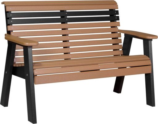 Cedar and Black Cape Lookout Patio Bench