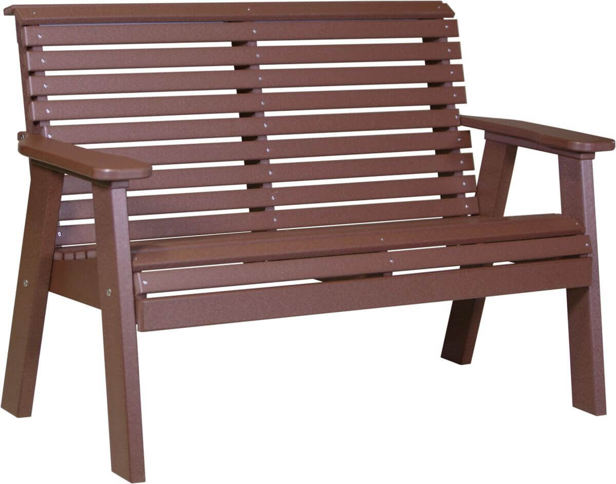 Chestnut Brown Cape Lookout Patio Bench