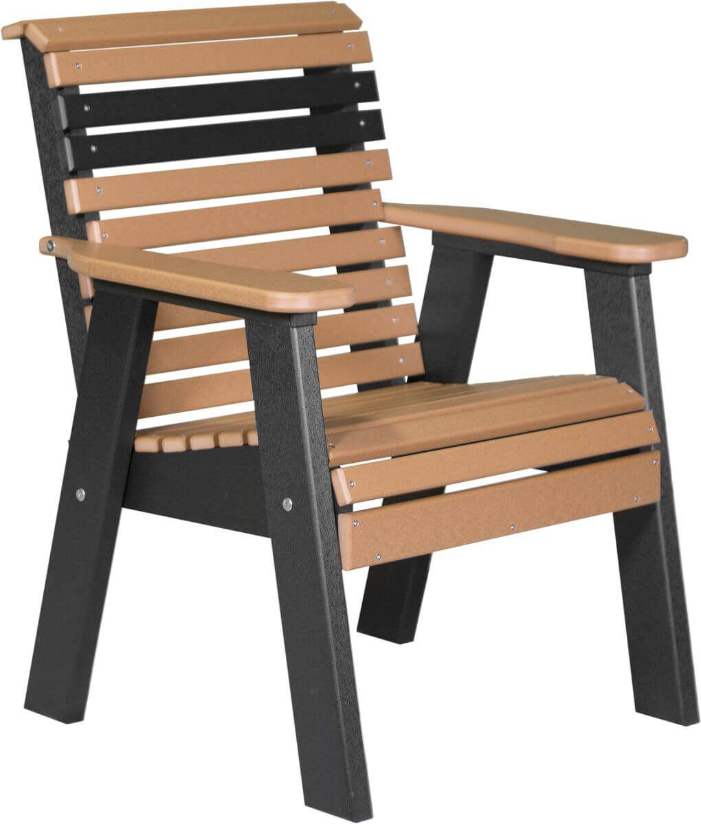 Cedar and Black Cape Lookout Patio Chair