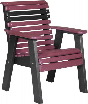 Cherrywood and Black Cape Lookout Patio Chair