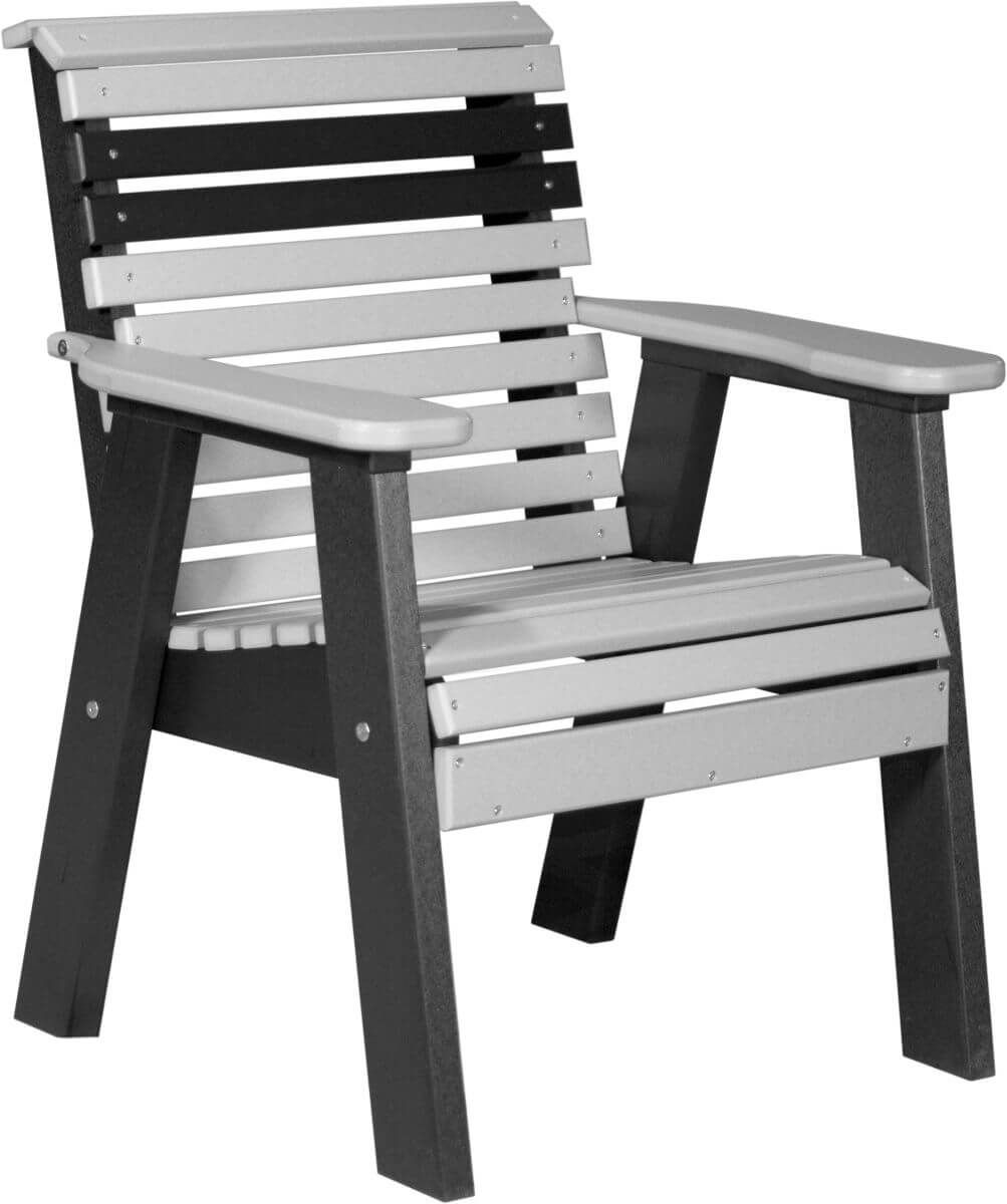 Dove Gray and Black Cape Lookout Patio Chair