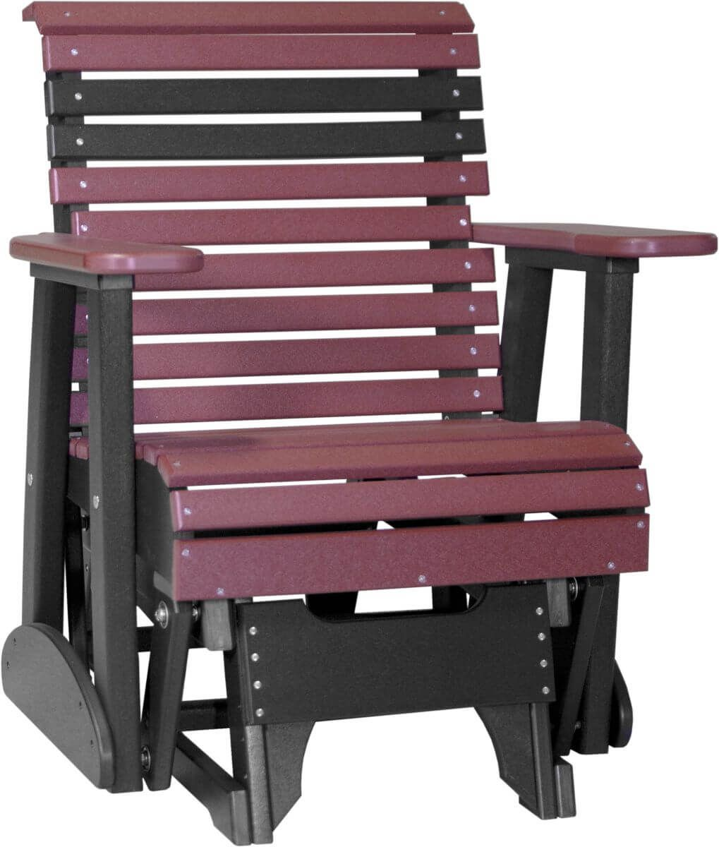 Cherrywood and Black Cape Lookout Patio Glider