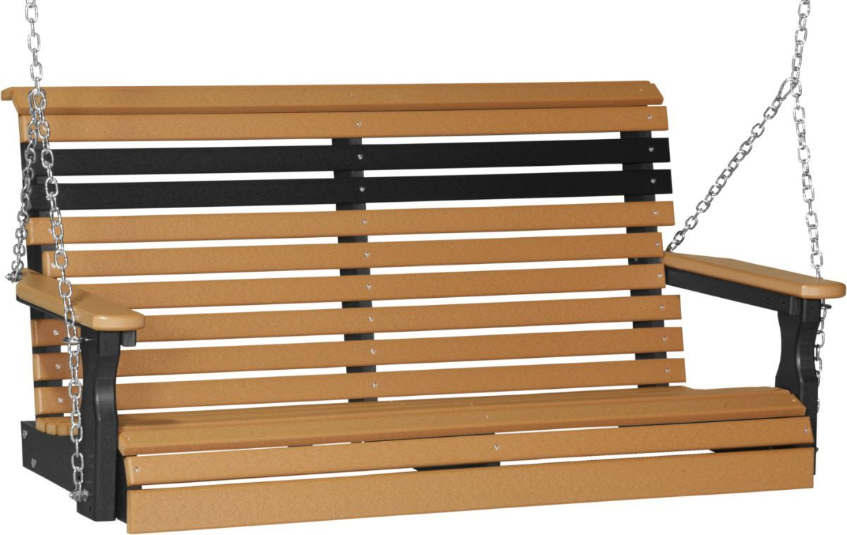 Cedar and Black Cape Lookout Porch Swing