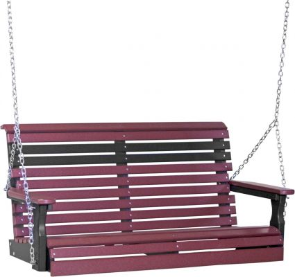 Cherrywood and Black Cape Lookout Porch Swing