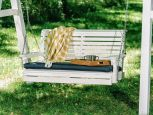 Cape Lookout Porch Swing on White A-Frame