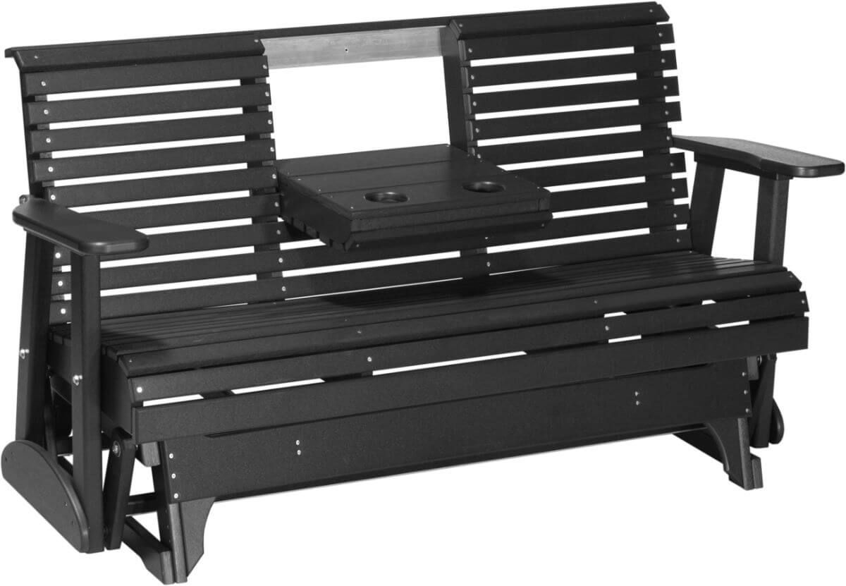 Cape Lookout Patio Glider Bench with Console